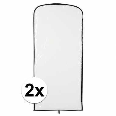 2x carnavascarnavalpak hoes transparant 95 x 42 cm