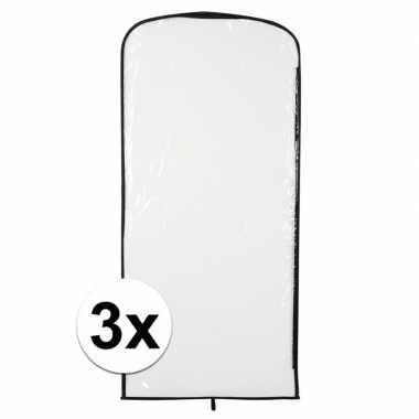 3x carnavascarnavalpak hoes transparant 95 x 42 cm