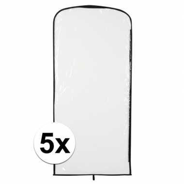5x carnavascarnavalpak hoes transparant 95 x 42 cm
