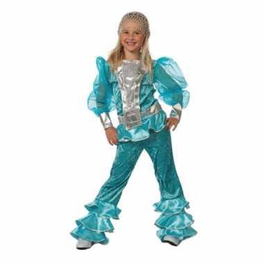 Abba carnavalpak blauw voor meisjes