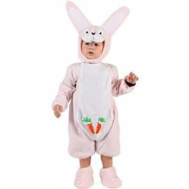 Baby carnavalpak roze konijntje