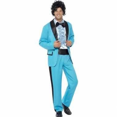 Blauw jaren 80 carnavalpak pak heren