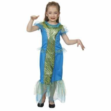 Blauw zeemeermin carnavalpak voor meisjes