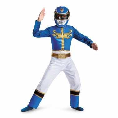 Blue Power Ranger carnavalpak voor jongens