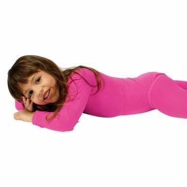 Bodystocking felroze voor kinderen
