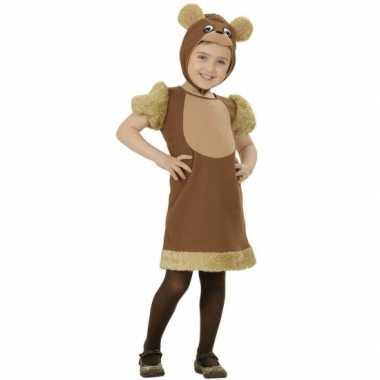 Bruine beren carnavalpak voor meisjes