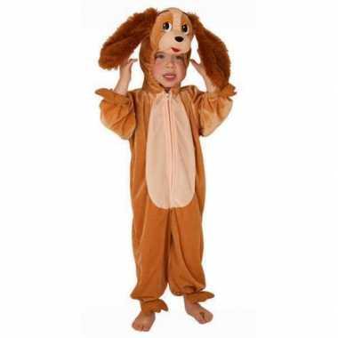 Bruine hond carnavalpak voor kinderen