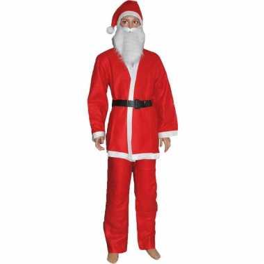 Budget kerstman verkleed carnavalpak voor kinderen