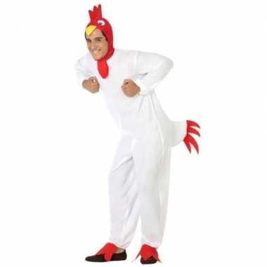 Carnaval dieren carnavalpak kip/haan voor heren