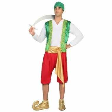 Carnaval/feest arabische strijder/soldaat amir verkleedcarnavalpak vo