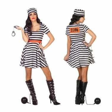 Carnaval/feest boeven/gevangenen bonnie verkleedcarnavalpak jurkje vo