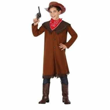 Carnaval/feest bruine cowboy john verkleedcarnavalpak voor jongens
