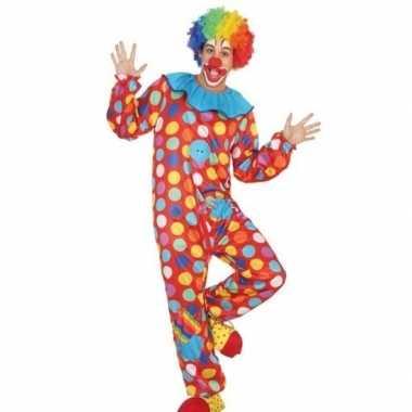 Carnaval/feest clown verkleed carnavalpak voor heren