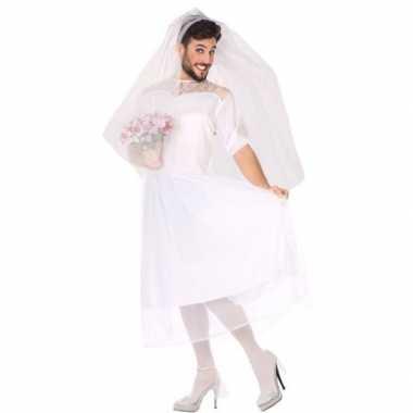 Carnaval/feest fun bruid verkleed carnavalpak voor heren