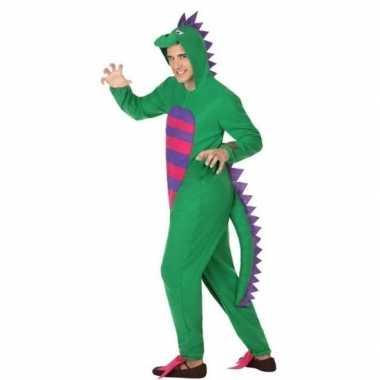 Carnaval/feest groene draak verkleed carnavalpak voor volwassenen
