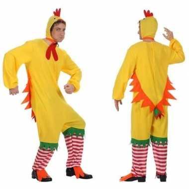 Carnaval feest haan kip kuiken verkleed carnavalpak voor heren