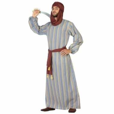 Carnaval/feest lange arabische verkleedcarnavalpak ali voor heren