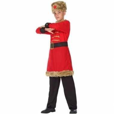 Carnaval/feest russische kozak verkleedcarnavalpak voor jongens