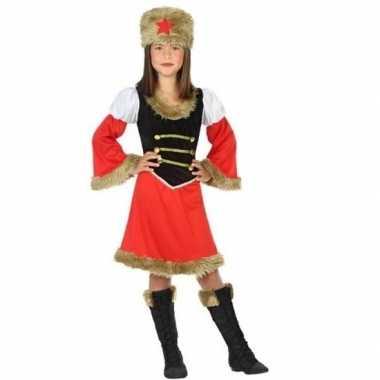 Carnaval/feest russische kozak verkleedcarnavalpak voor meisjes