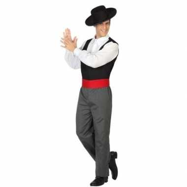 Carnaval/feest spaanse flamenco dansers verkleedcarnavalpak voor here