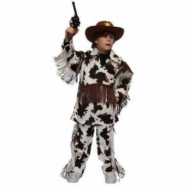 Carnavalpak cowboy carnavalpak met koeienprint voor kids