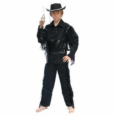 Carnavalpak cowboy carnavalpak zwart voor kids