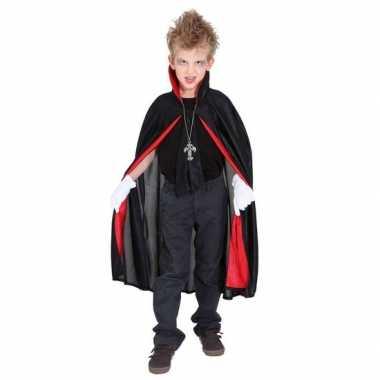 Carnavalpak dracula/vampier verkleed cape voor jongens/meisjes/kinder