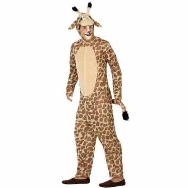 Carnavalpak giraf voor heren/dames