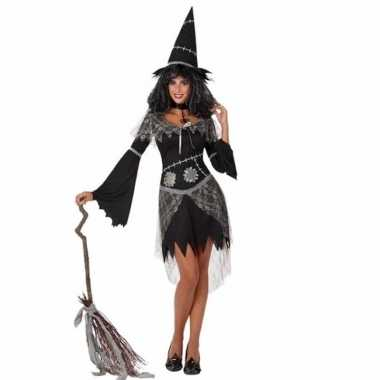 Carnavalpak heksenjurk zwart voor dames