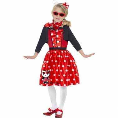 Carnavalpak Hello Kitty rood