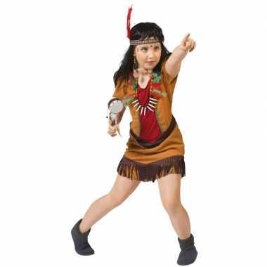Carnavalpak indianen jurkje voor meisjes