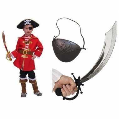 Carnavalpak kapitein piraat voor kids
