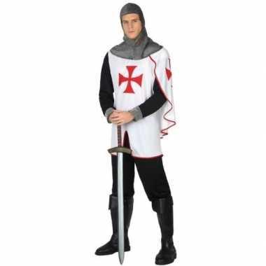 Carnavalpak middeleeuwse kruistocht ridder voor heren