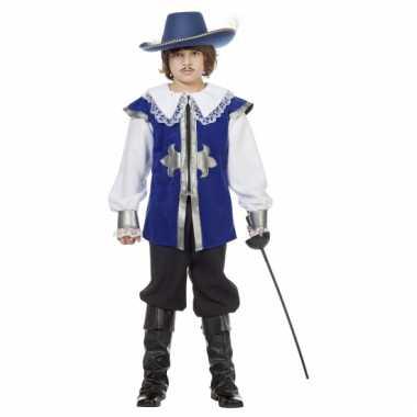 Carnavalpak musketier blauw