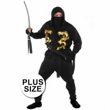 Carnavalpak ninja voor heren xxl
