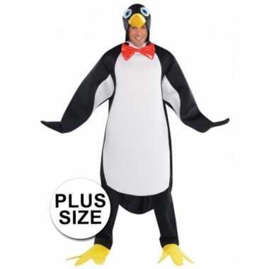 Carnavalpak pinguin voor heren xxl