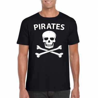 Carnavalpak piraten shirt zwart heren