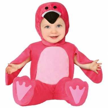 Carnavalpak roze flamingo carnavalpak voor babys/peuters