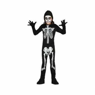 Carnavalpak skelet carnavalpak voor kinderen