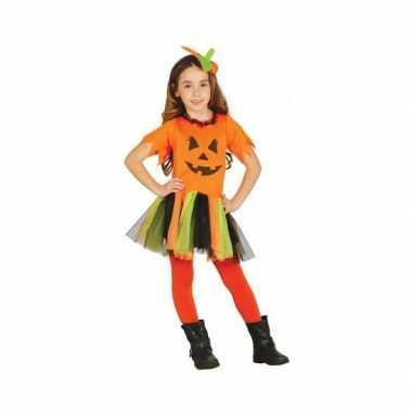 Carnavalpak voor kinderen pompoen jurkje