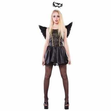 Carnavalpak zwarte engelen carnavalpak