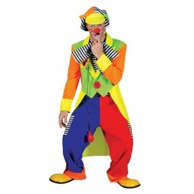 Clown carnavalpak gekleurd voor heren