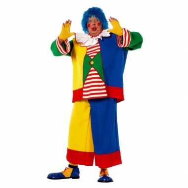 Clowns carnavalpak voor heren in een grote maat