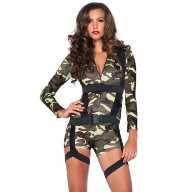 Commando leger carnavalpaks voor dames