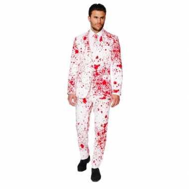 Compleet carnavalpak met bloedspatten