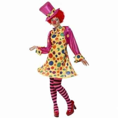 Dames clowns carnavalpak
