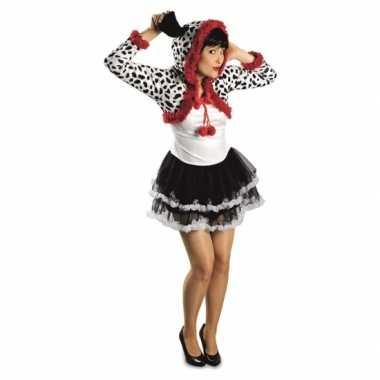 Dames dalmatier hond carnavalpak