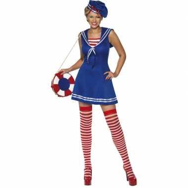 Dames matrozen carnavalpak met baret