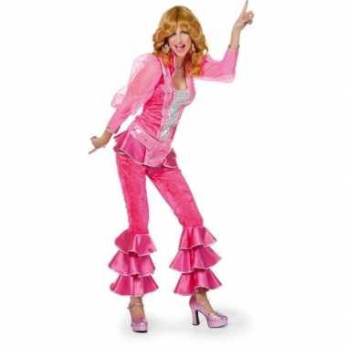 Disco carnavalpak voor dames roze