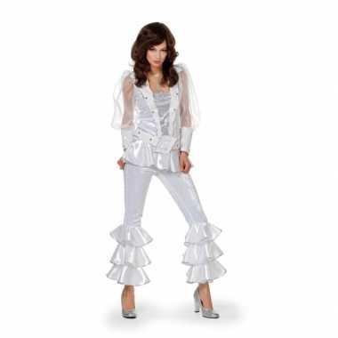 Disco carnavalpak voor dames wit